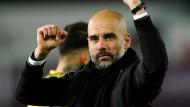Noch ein Sieg: Manchester-City-Trainer Pep Guardiola.