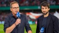Experte Thomas Broich (rechts, mit Moderator Matthias Opdenhövel) war auch schon beim DFB-Pokal im Einsatz.