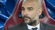 Und nun? Bayern-Trainer Pep Guardiola braucht einen neuen Plan für das Rückspiel gegen Atlético.