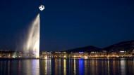 Gewässer im Zeichen des Fußballs: der Genfer See