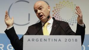 Umstrittener Infantino hält Rede auf G-20-Gipfel