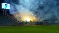 Auf der Krim ein Verbrechen? Sewastopols Ultras üben mit Pyrotechnik