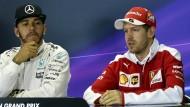 Ein gewohntes Bild: Lewis Hamilton (Mitte) ist auch 2016 der Schnellste.
