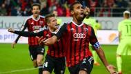 Was für eine Befreiung: Marvin Matip (vorne) erzielt den Siegtreffer für Ingolstadt