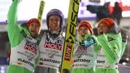 Unglaublicher Abend für deutsche Skispringer