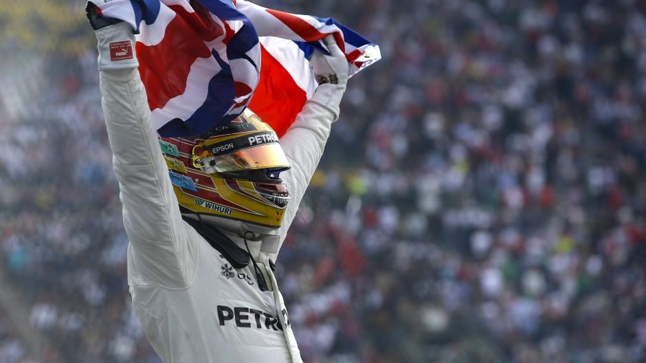 In Mexiko zum vierten Titel: Lewis Hamilton.