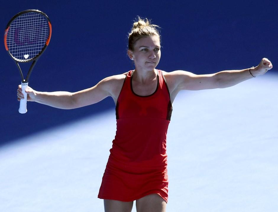 Simona Halep ist die Gegnerin von Kerber im Halbfinale.