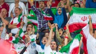 Free to cheer: Iranian volleyball supporters at the 2014 World championships in Bydgoszcz, Poland
