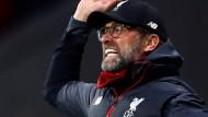 Emotional an der Seitenlinie: Liverpool-Trainer Jürgen Klopp