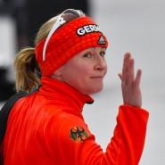 """Tschüss Deutschland: Claudia Pechstein bekam von Trainer Erik Bouwman mitgeteilt, dass er """"keinen Bock"""" darauf habe, dass sie in der deutschen Auswahl trainiere."""