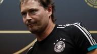 Marcus Sorg vertritt den fehlenden Bundestrainer Joachim Löw.