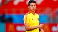 Kolumbians James Rodriguez startet wohl gegen Japan in die WM 2018.