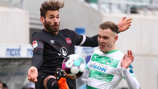 Greuther Fürth trifft im Derby in der Nachspielzeit