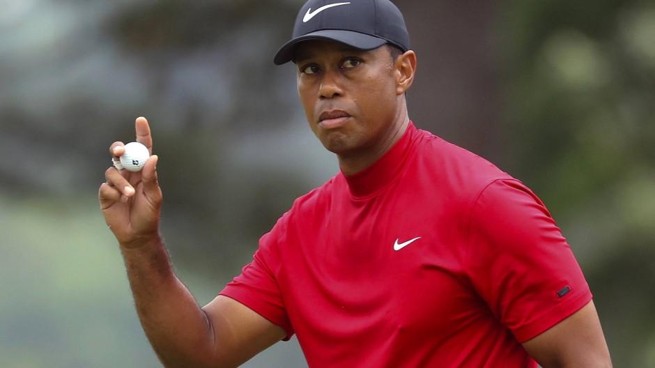 Der Tunnelblick des Siegers: Tiger Woods auf der Schlussrunde.