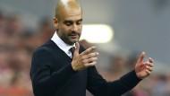 """Guardiolas Gesten sprechen eine andere Sprache als die Worte: """"Ich bin sehr glücklich: Ich freue mich, dass ich Bayern-Trainer bin"""""""