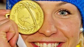 Goldenes Ende: Biathletin Magdalena Neuner hat ihre Karriere schon beendet