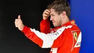 Sebastian Vettel und Ferrari wollen nächstes Jahr die Mercedes angreifen.