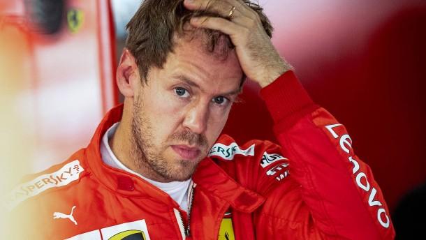 Ferraris Defizit, Vettels Schwäche