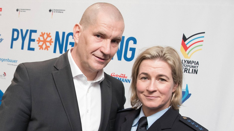 Die Eisschnellläuferin und der neue Präsident? Claudia Pechsteins Partner Matthias Große will Verbandschef werden.
