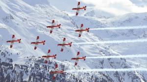 Unfall mit Flugzeug bei der Ski-WM