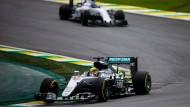 Etwas zu langsam: Nico Rosberg muss von Startplatz zwei aus ins Rennen gehen