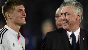 Der Star und sein Trainer: Toni Kroos und Carlo Ancelotti