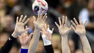 Handballspieler im Hamsterrad