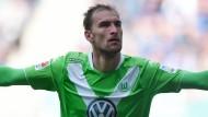 Sponsor auf der Brust: Volkswagen ist Geldgeber des VfL Wolfsburg.