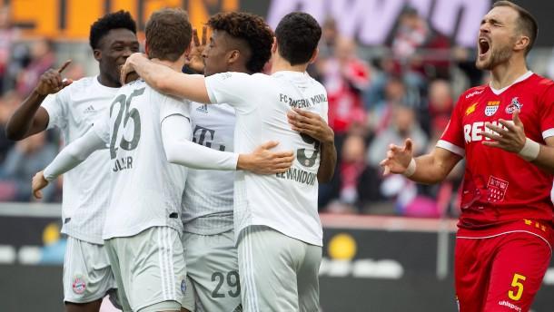 Der FC Bayern kurz außer Rand und Band