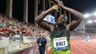 Bolt läuft sich für den Abschied warm