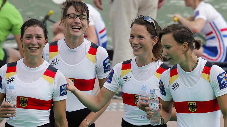 Weltmeisterin 2015: Katrin Thoma (Zweite von rechts)