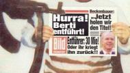 """Kurz vor der Fußball-EM 1996 war Berti Vogts das Opfer auf dem Cover der """"Titanic""""."""