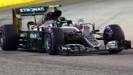 Rosberg startet von der Pole Position
