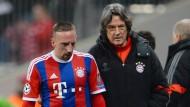 Müller-Wohlfahrt (r.) und Franck Ribéry