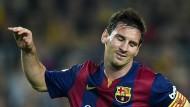 Wie gerne wären Lionel Messi und der FC Barcelona jetzt Zweiter der Tabelle