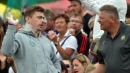 Lange Jahre ein Erfolgs-Duo: Kugelstoßer David Storl (l) und Trainer Sven Lang
