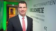 Michael Ilgner in der Zentrale der Deutschen Sporthilfe in Frankfurt am Main