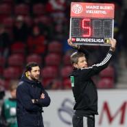 Die letzten fünf Minuten als Mainz-05-Trainer: Sandro Schwarz im Spiel gegen Union Berlin.