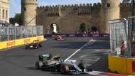 Immer vorneweg: Mercedes-Pilot Nico Rosberg gewinnt in Baku