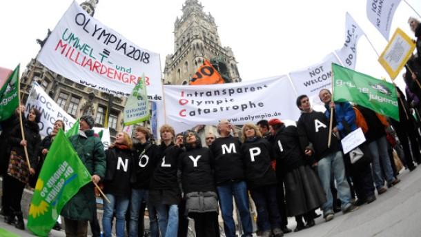 Olympia-Protest geht unter