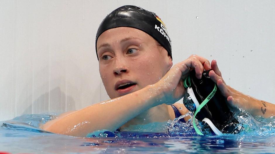 Unzufrieden mit der eigenen Leistung: Sarah Köhler nach dem Rennen über 800 Meter Freistil
