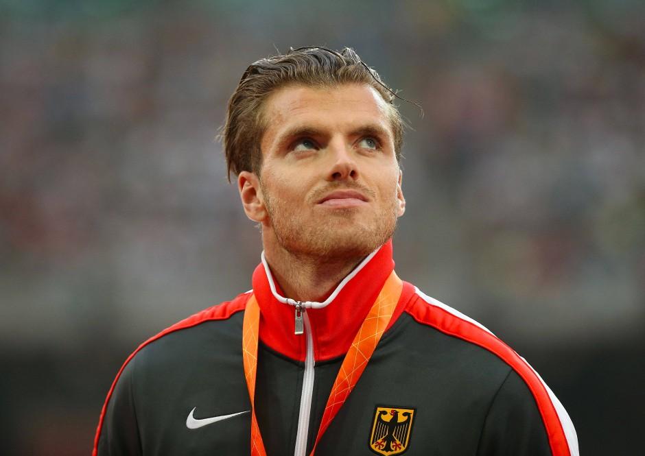 Vor zwei Jahren musste er noch aufschauen: In Peking gewann Freimuth Bronze
