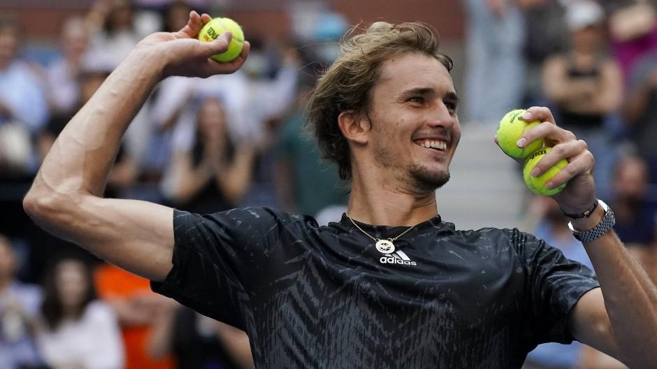 Alexander Zverev hatte seinen Spaß nach dem Viertelfinale der US Open.
