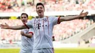 Einschießen für Real: Robert Lewandowski trifft bei seinem Kurzeinsatz in Hannover