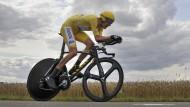 Radeln in der Grauzone: Bradley Wiggins bei der Tour de France 2012.