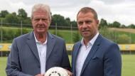 """Ein """"wichtiger Meilenstein"""": Dietmar Hopp (links) und Hansi Flick."""