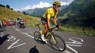 Kann anders als die Sprinter in den Bergen mithalten: der derzeitige Tour-Führende Greg Van Avermaet.