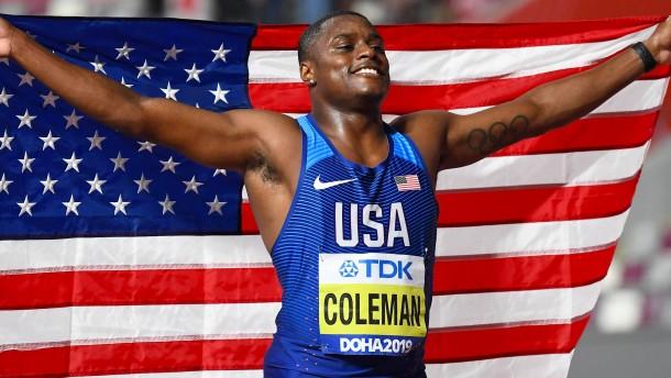 Ein Amerikaner ist der schnellste Mann der Welt