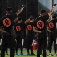 Black Power: Die Spieler von Orlando City und Inter Miami vor ihrem Spiel.