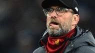 """""""Wir werden nicht da sein"""": Liverpool-Trainer Jürgen Klopp fehlt beim Wiederholungsspiel."""